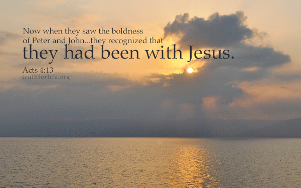 """New wallpaper: """"They had been with Jesus"""" - Truth For Life"""