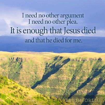 It is enough that Jesus died