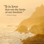 It is love that sets the limits of our freedom