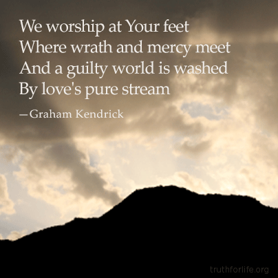 We worship at Your feet
